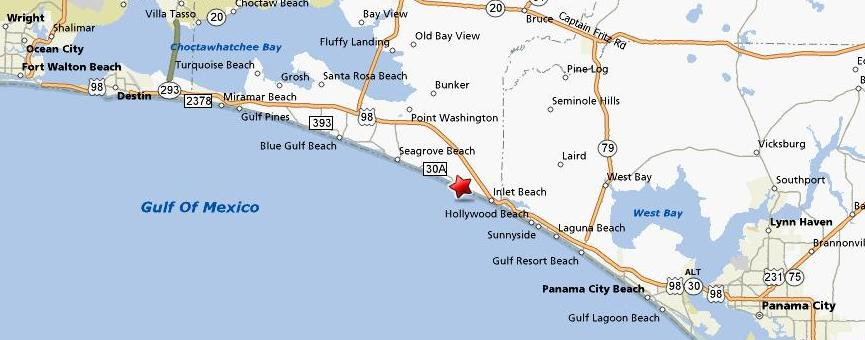 Panama City Beach Florida Map.Panama City Beach Fl Vacation House Rentals Small House Interior